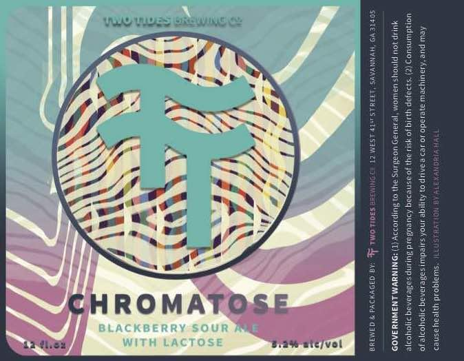 Two Tides Chromatose Beer Label