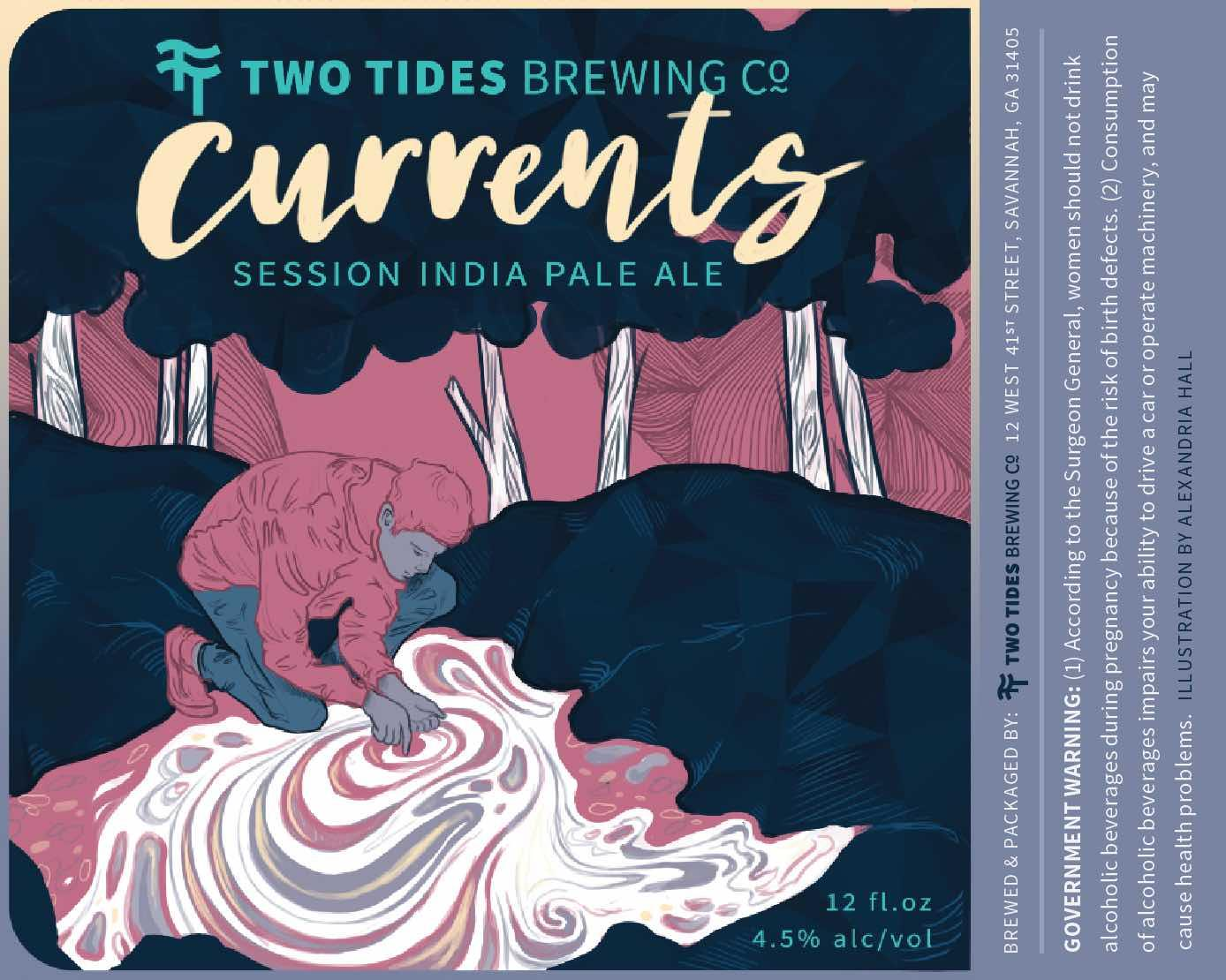 Two Tides Currents Beer Label