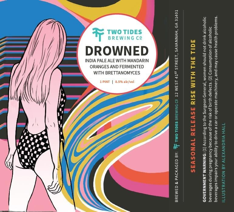 Two Tides Drowned Beer Label