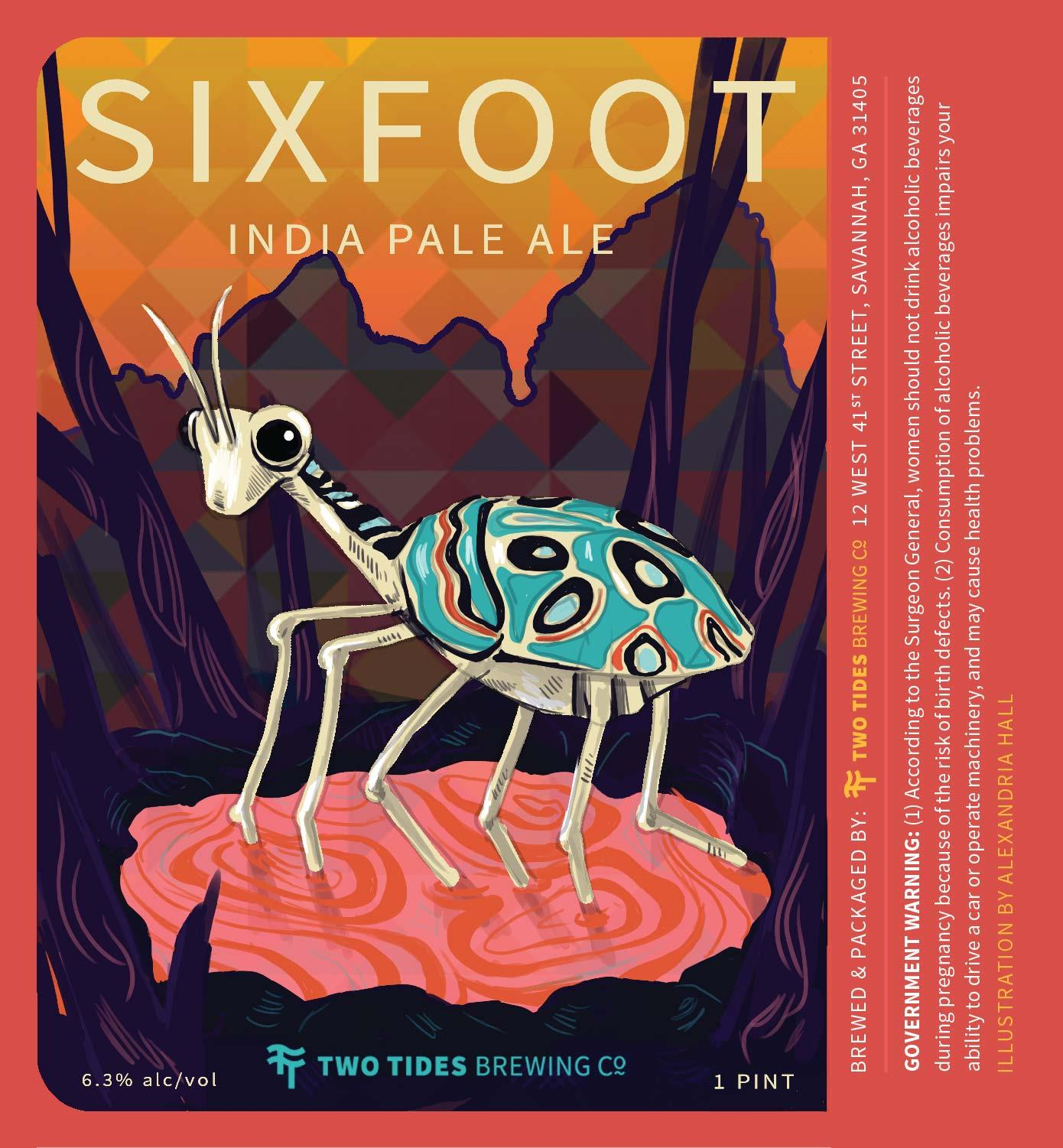 Two Tides Sixfoot Beer Label