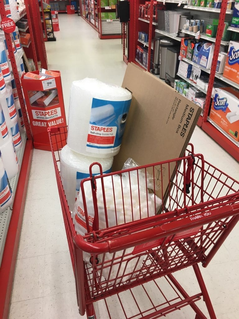 staples shopping cart