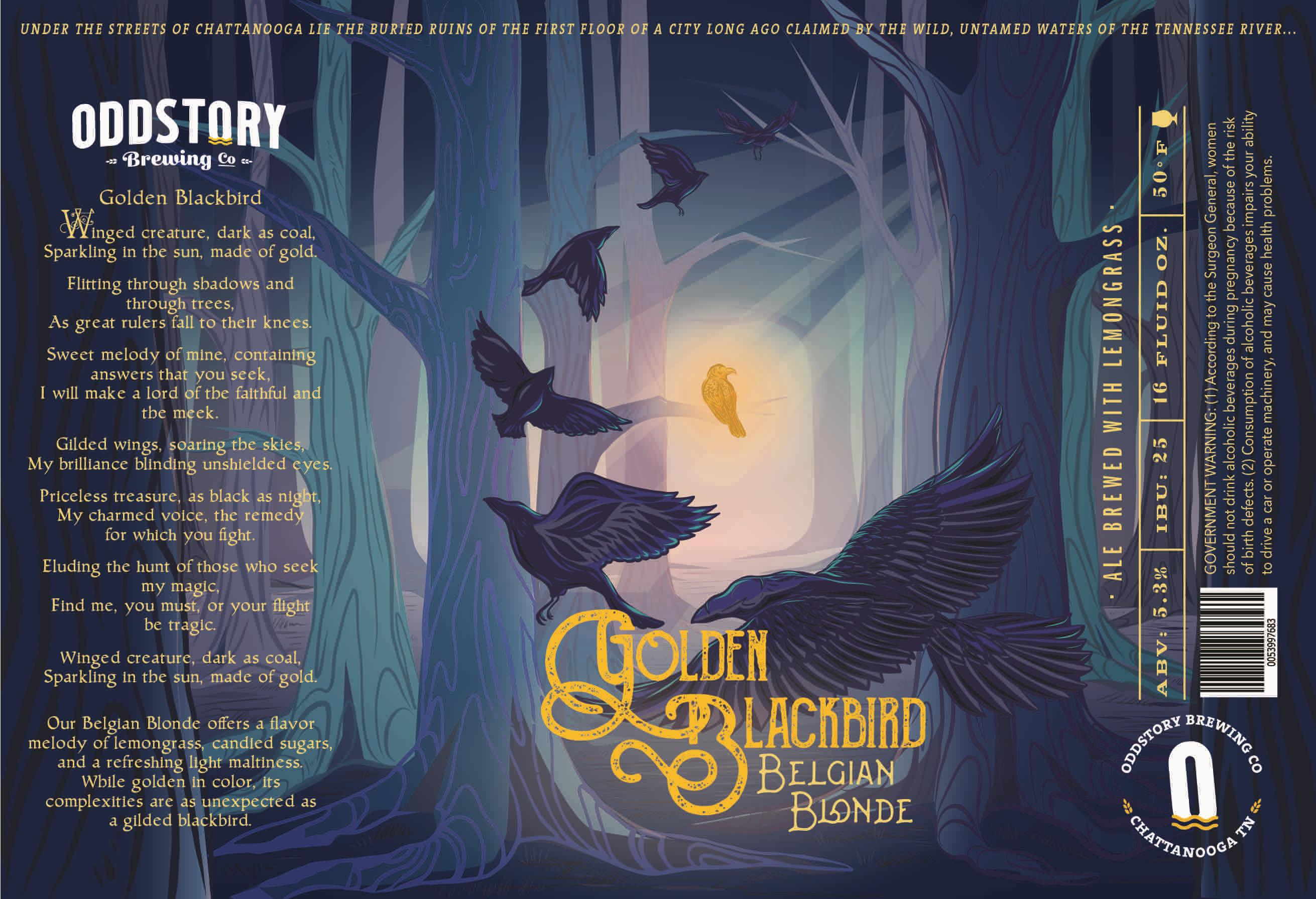 Oddstory Brewing Company Golden Blackbird Belgian Blonde