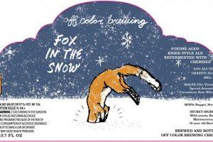 Off Color Brewing Fox In The Snow Kriek