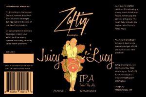 Zaftig Brewing Co. Juicy Lucy IPA
