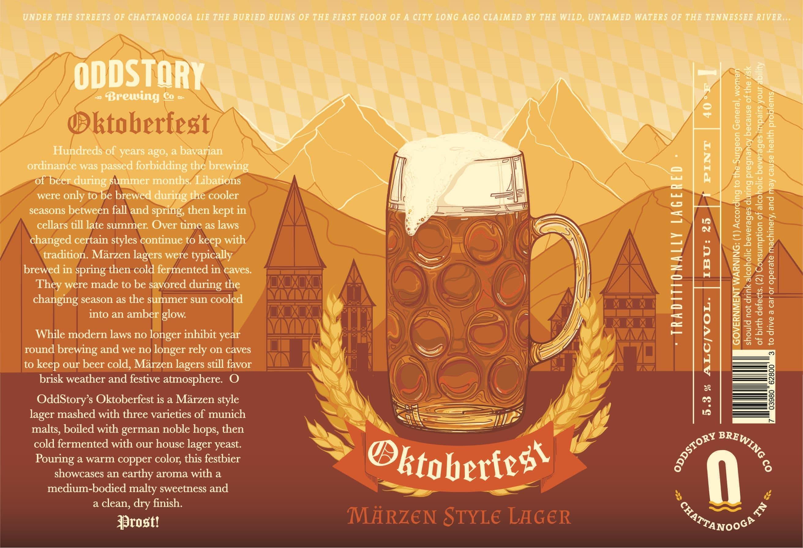 Oddstory Brewing Company Oktoberfest Marzen Lager