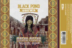 Black Pond Manchu Picchu Jalapeño Saison