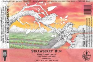 Brookeville Beer Farm Strawberry Run Lager