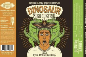 Burning Barrel Dinosaur Mind Control Double IPA