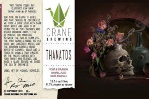 Crane Thanatos Dark Sour Ale