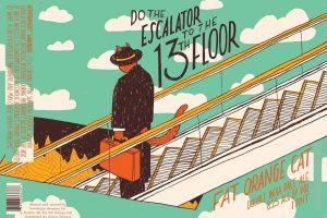 Fat Orange Cat Do The Escalator to the 13th Floor Double IPA