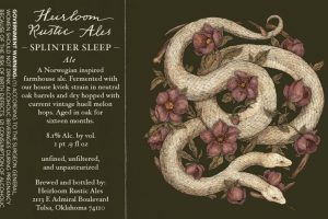 Heirloom Rustic Ales Splinter Sleep Farmhouse Ale