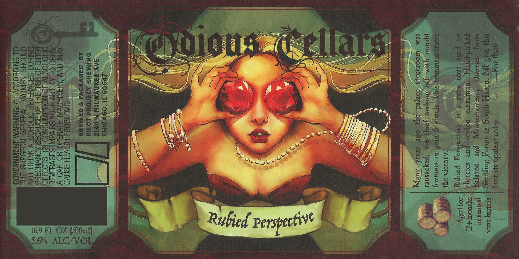 Odious Cellars Rubied Perspective Label