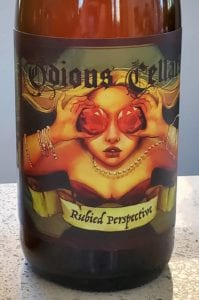 Odious Cellars Rubied Perspective Label On Bottle